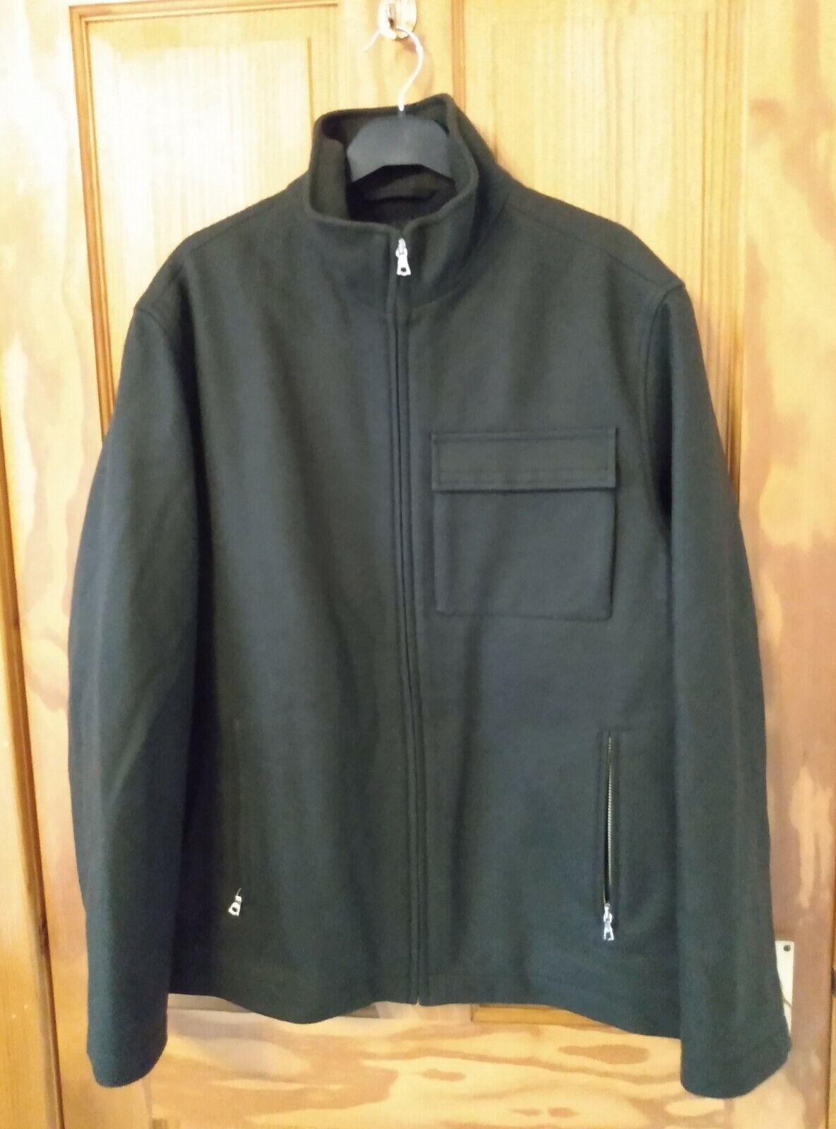 Wool Jacket Overshirt Bushcraft Green Coat Men's Small Swanndri alternative