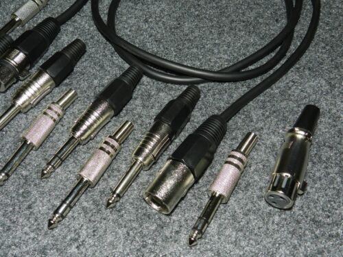 DMX Kabel XLR Female 3 Pol />Male 5 Pol  1,5 m vergoldete Kontakte