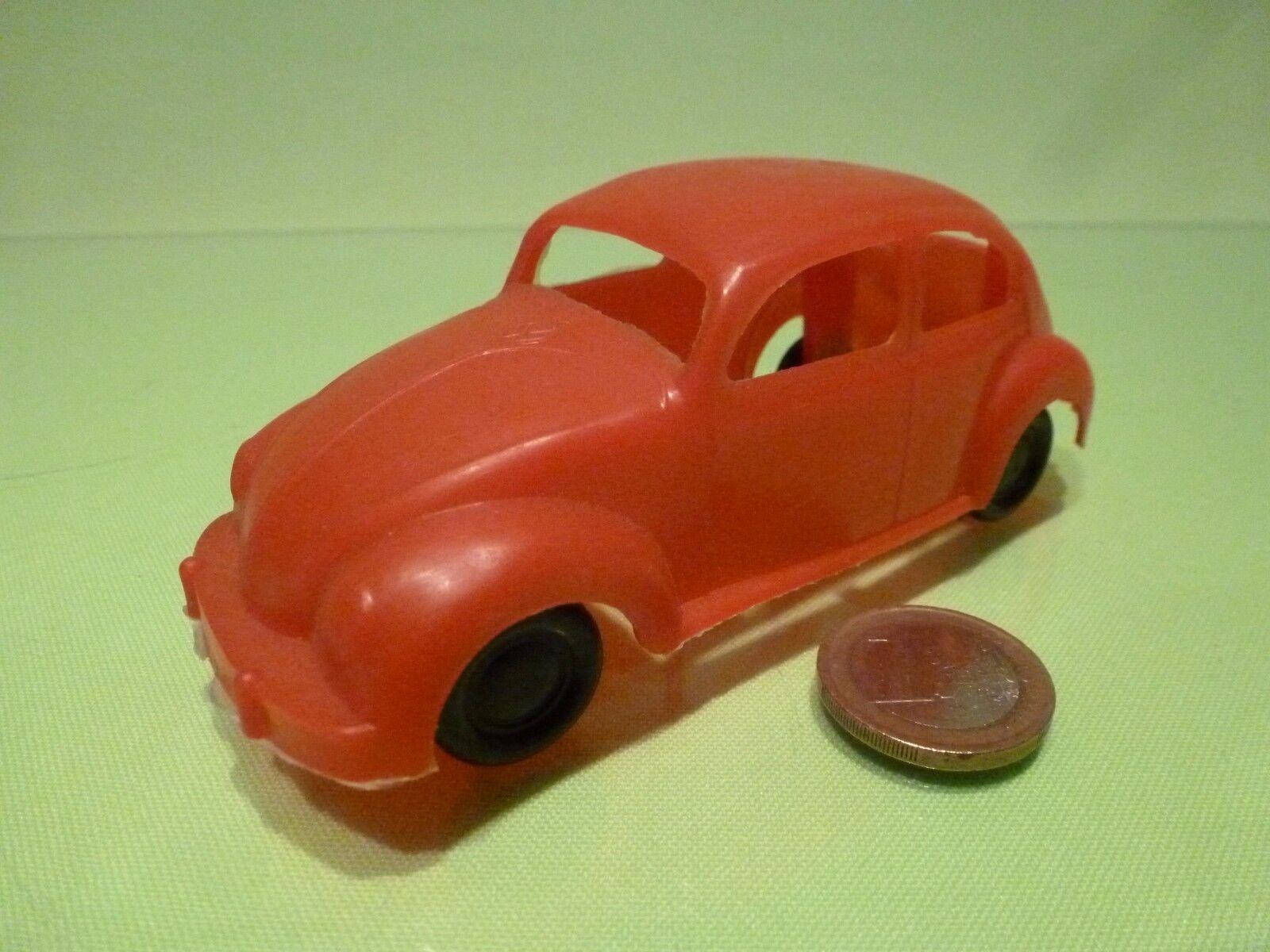 PLASTIC GERMANY VW VOLKSWAGEN BEETLE - rojo L12.5cm  RARE SELTEN - GOOD CONDITION