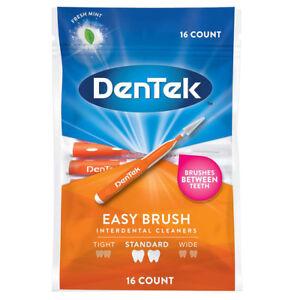 DenTek Easy Brush - Standart - Interdental Cleaners - 16 per pack - Free UK P&P