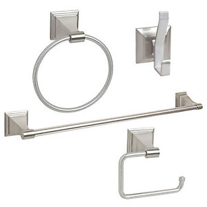 Satin Brushed Nickel Bathroom Hardware Accessory Set Ebay