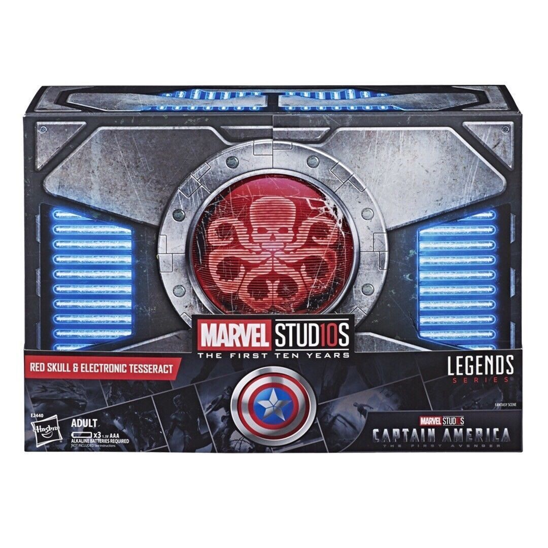 MARVEL STUDIO LEGENDS 6  rot SKULL & ELECTRONIC TESSERACT SDCC 2018 EXCLUSIVE