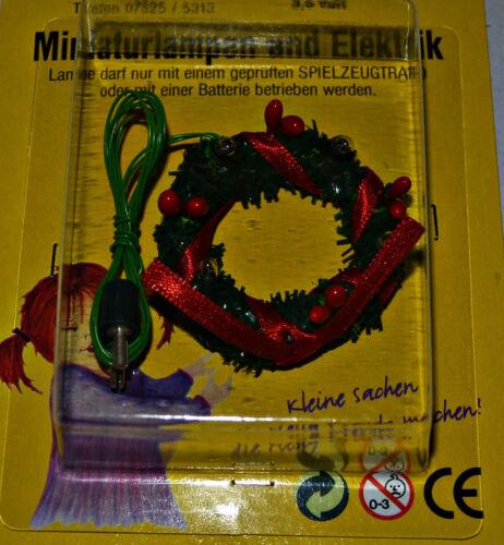 Adventskranz  mit LED Miniature 1:12