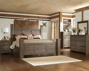 Image Is Loading Ashley Juararo Queen Poster 7 Piece Bedroom Set