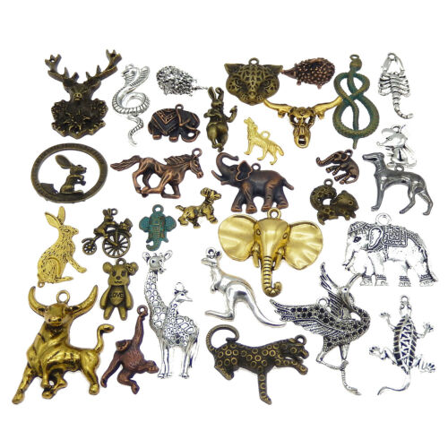 x20 Vintage Alloy Animals Pendants Mixed Kinds Jewelry Findings 10-80mm 1 Lot