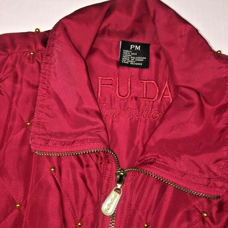 Fuda International Womens PM  Jacket Red Gold Sil… - image 5