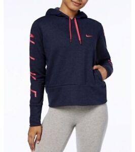 M Azul Capucha Entrenamiento Seco Nike Rosa Sudadera Con Mujer XYwq0
