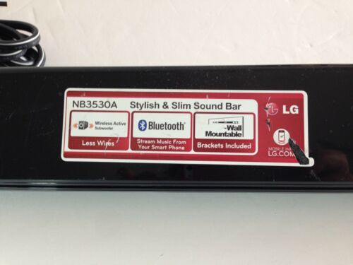 LG NB3530A 2.1 Channel Soundbar w// Bluetooth Soundbar Only!