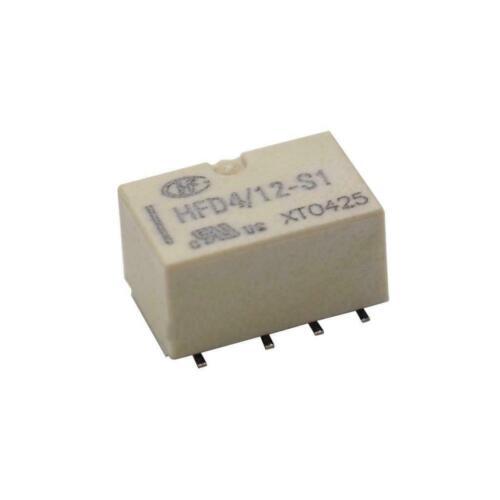 HONGFA HFD4//012-S1 Relais 2x Wechsler 2A 12V Subminiature Signal Relay 860580