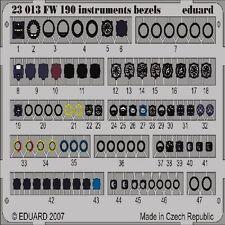 EDUARD MODELS 1/24 Aircraft- Fw190 Instruments Bezels (Painted) EDU23013