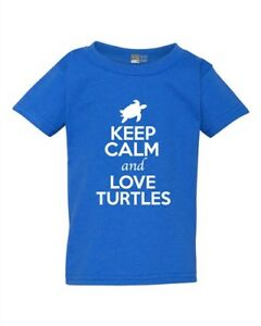 Keep-Calm-And-Love-Turtles-Tortoise-Animal-Lover-Funny-Toddler-Kids-T-Shirt-Tee