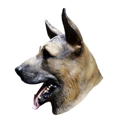 German Shepherd Alsatian Mask Dog Latex Full Head EAGLES UNDERDOG FANS FOOTBALL