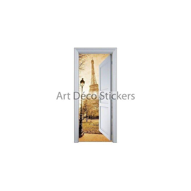 Aufkleber Tür Schein Auge Paris Eiffelturm 90x200cm 9103 Prestashop-5557