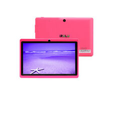 """IRULU 8GB 7"""" Tablet PC 1.5GHz Android 4.4 Dual Cameras Wifi 8 Colors w/ Keyboard"""
