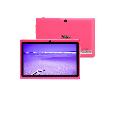 """iRULU eXpro X1a 7"""" Tablet PC 8GB Google Android 4.4 Quad Core Dual Camera Pink"""