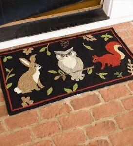 Image Is Loading Owl Rabbit Door Mat Indoor Outdoor Rug Floor