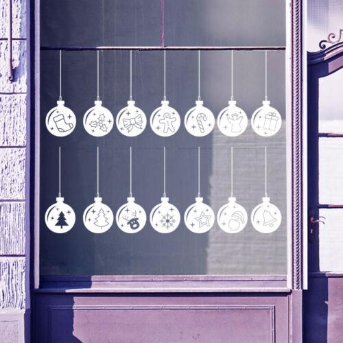 Christmas Baubles Xmas Balls Shop Window Displays Decorations Vinyl Stickers B12