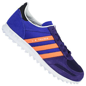 Details zu adidas Originals La Trainer Damen Sneaker Freizeit Schuhe  NightFlash Lila Orange