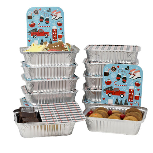 Christmas Foil Treat Containers Christmas Seasonal Holiday Décor Set of 12