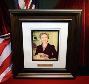 Hillary-Clinton-Autografo-Firmado-COA-Uacc-Rd-228-PSA-DNA-Guaranteed-Marco