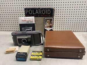 Vintage Polaroid Land Camera J66 COMPLETE w/BOX & MORE COOL PROP UNTESTED DECOR