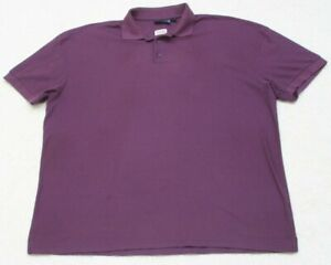 Blue Generation Polo Shirt Short Sleeve 3XL Solid Poly Cotton XXXL Purple 3-Btn