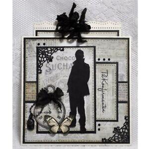 Stanzschablone-Junge-Mann-Ansicht-Weihnachts-Hochzeit-Geburtstag-Karte-Album-DIY