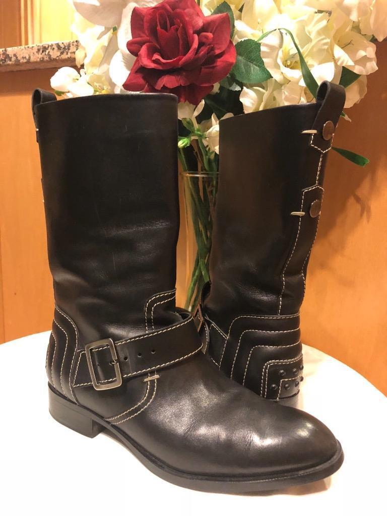 TODS women's black mid calf boots sizes 9 (BOTA300)