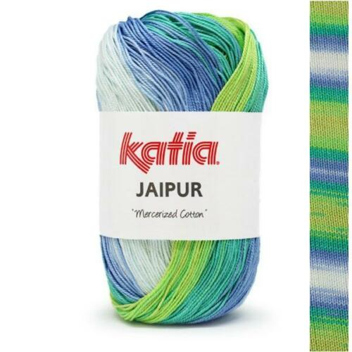 Häkelgarn 50g JAIPUR KATIA Baumwolle LACE FARBVERLAUF BATIK Wolle 8,40€//100g