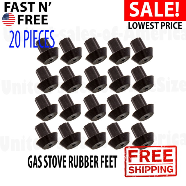 Rubber Feet Bumpers Heat-Resistant Material Viking Range Grate Bumper 20-Pack