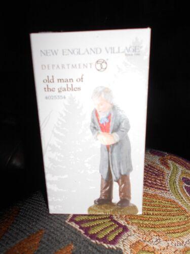 B DEPT 56 NEW ENGLAND VILLAGE  Accessory OLD MAN OF THE GABLES NIB