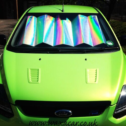 Car Front Windscreen UV Laser Foil Sun Shade Block Screen To Fit Toyota Yaris Ve