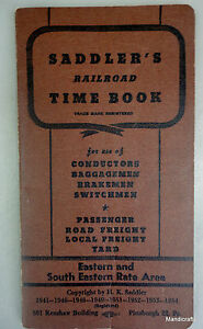 saddlers railroad time book 1954 brakesman employee record pay