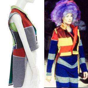 runway-COMME-DES-GARCONS-Vintage-SS96-colorblocked-felt-tail-vest-jacket-FR36-S