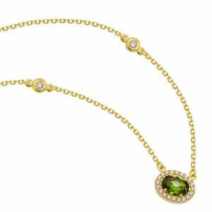 Smaragd-Collier-Gold-585-Damen-Gelbgold-14K-Anhaenger-mit-Kette-Damen-42-45cm