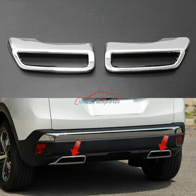 For Peugeot 3008 5008 16 19 Car Rear Tail End Tip Pipe Dual