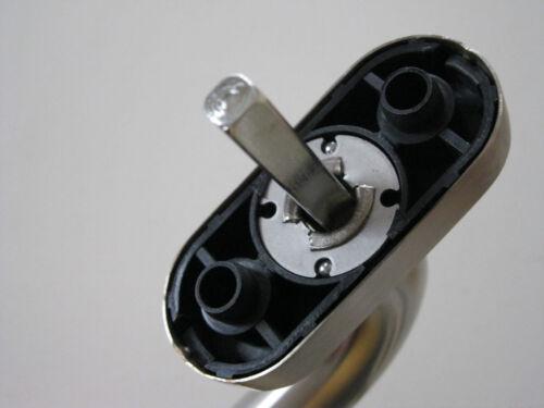 Edelstahl Fenstergriff Cigarren-Form Nocken 10 mm Rasterolive Fensterolive