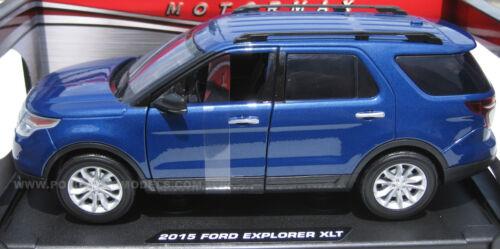 Motormax 1//18 Blue 2015 Ford Explorer XLT SUV 73186-BLUE