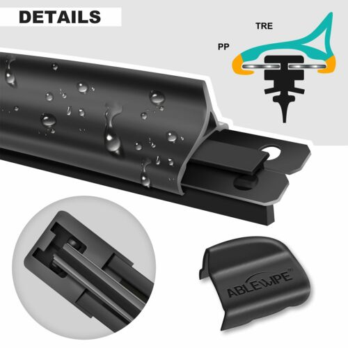 ABLEWIPE Fit For Chevrolet Chevy Colorado 2017-2016 Beam Wiper Blades Set of 2
