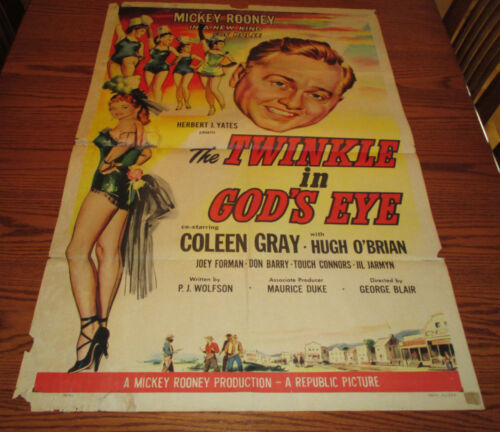 1955 The Twinkle in God's Eye 1-SH Movie Poster GD- Mickey Rooney 55/374