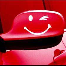 Winking car MIRROR WINK DECAL STICKER VINYL FUNNY SMILEY WINDOW BUMPER LAPTOP