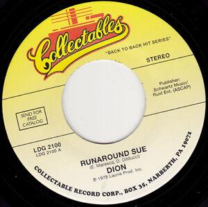 """DION & THE BELMONTS - Runaround Sue  7""""  45"""