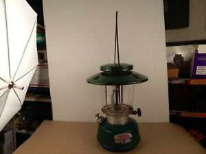Vintage Thermos Gas Camping Lantern In Green Burns Coleman