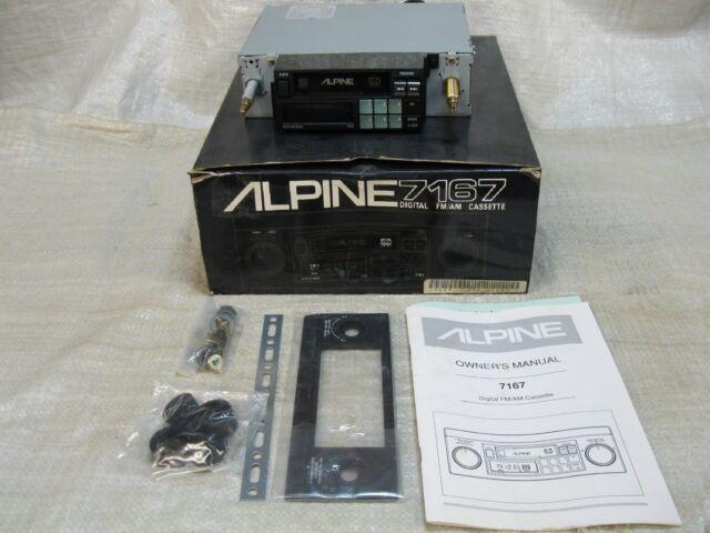 ALPINE 7167 AM/FM CASSETTE RADIO KNOB(SHAFT STYLE) VINTAGE OLD SCHOOL RARE NICE