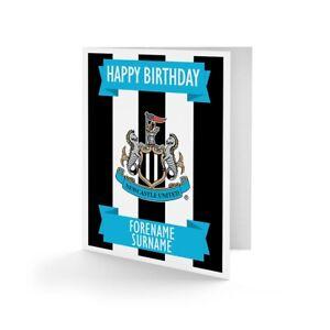 Newcastle United F.c - Personnalisé Carte De Vœux (crest)-afficher Le Titre D'origine Ventes Bon Marché