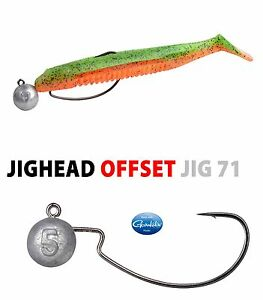 Offset hooks 3.5g jig heads weedless for Soft Lures PACK OF 5 MUSTAD HOOKS