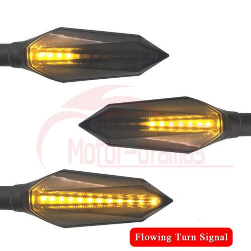 2PCS Universal Motorcycle LED Turn Signal Light Running Lamps Amber+Blue Lights