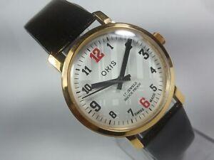 Vintage-Mechanical-Hand-Winding-Movement-Mens-Analog-Wrist-Watch-A62