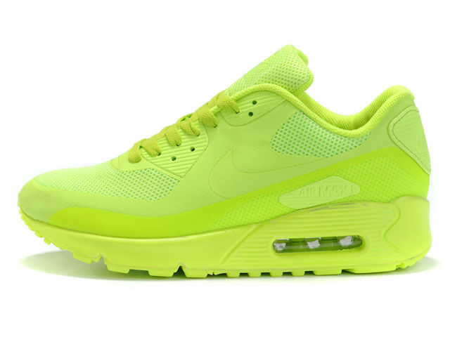 newest a0d87 91417 Nike Air Max 90 Hyperfuse Premium ID Volt Men's Athletic Running Shoes Size  14