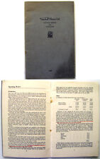 Vauxhall Motors Ltd 1947 original Annual Report & Accounts Booklet